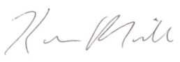 Signature of Kevin Miller